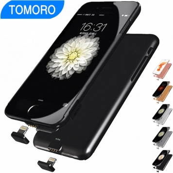 Thin Battery Case for iPhone 7 Plus Charger Case Power Bank Charge Cover for iPhone 7Plus 6Plus 6S 7 6 Portable External Plug Extra
